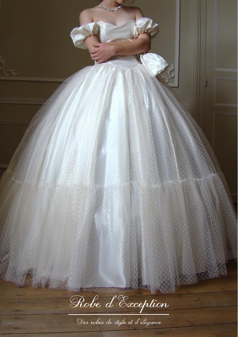 Robe mariée crinoline princesse Robe d'Exception