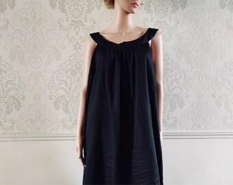 Black cotton nightgown, XXS woman at L