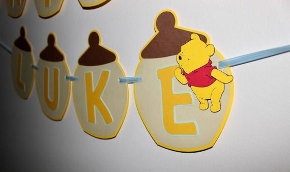 Happy Birthday Winnie The Pooh Banner