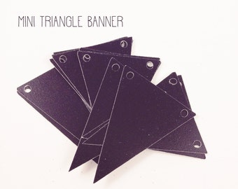 Chalkboard Triangle Pennant Banner DIY Banner Mini Triangle Banner Set of 20