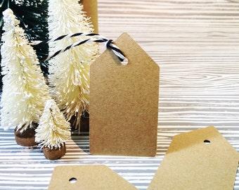 Christmas Gift Tags- Kraft Gift Tags, Christmas Gift Tags, Holiday Gift Wrap, Kraft Tag, Gift Tags, Tags, Set of 20 W/ Twine