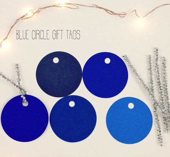 christmas gift tags blue round gift tag set of 20 includes etsy