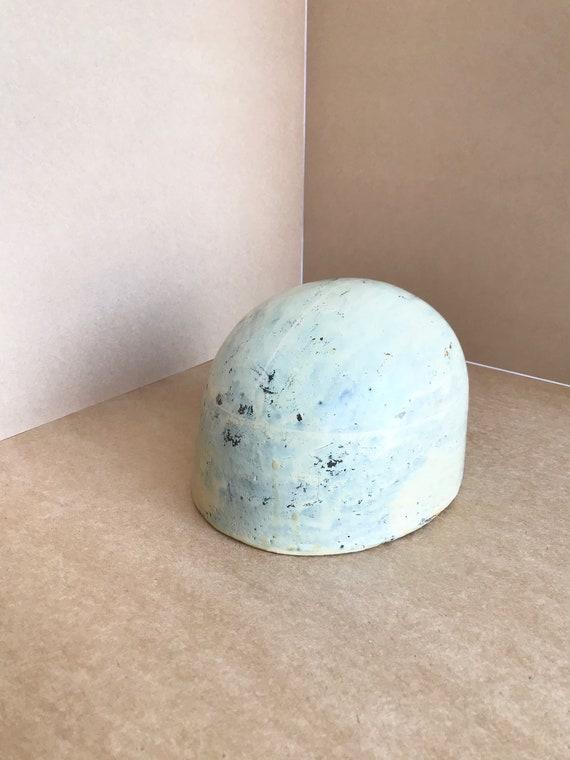 Vintage wooden crown hat block oval crown block bo