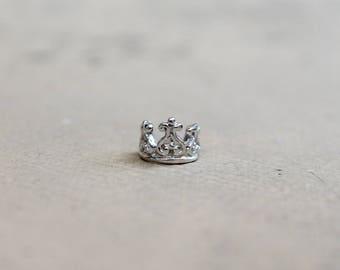 Sterling Silver 925 Crown Ear Cuff