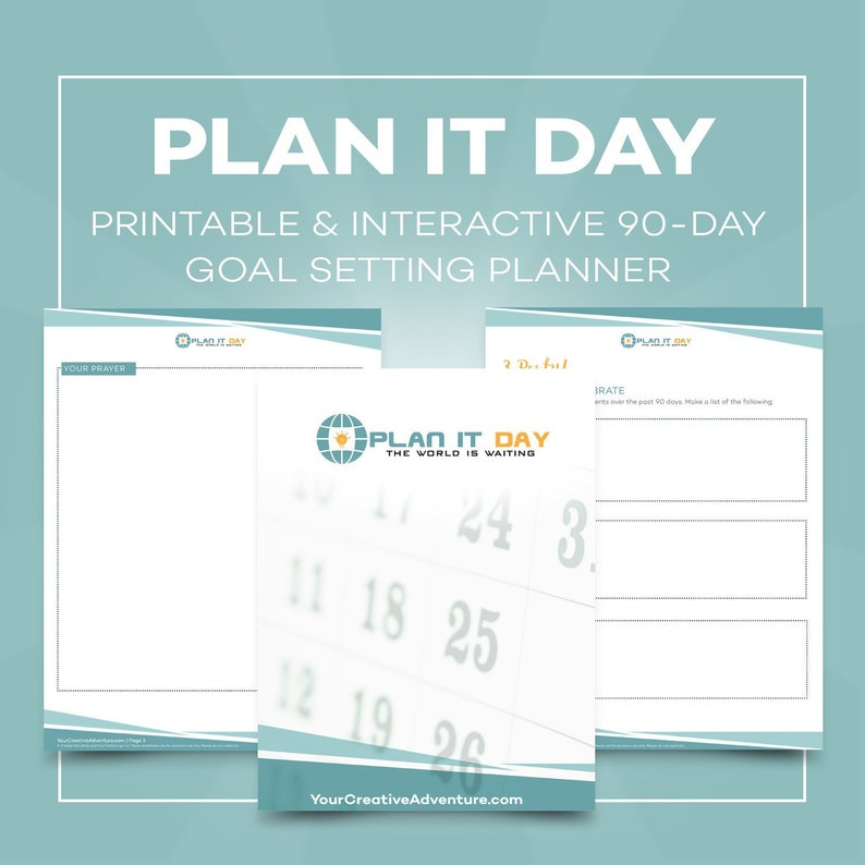 Plan it Day 90-Day Goal Setting Planner image 0