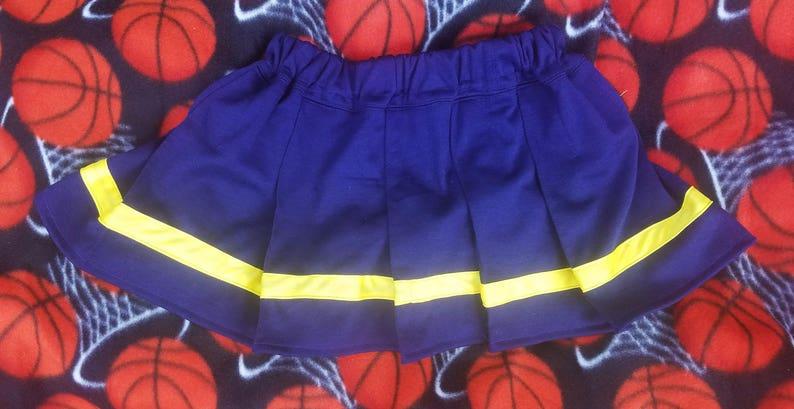 Baby/Toddler Cheerleader Pleated Skirt w/ stripe sizes 6 image 1