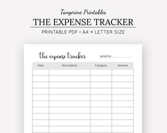 expense tracker a5 planner expense tracker printable etsy