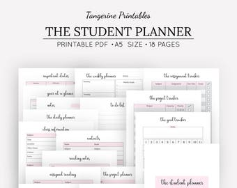 college planner printable a5 planner assignment tracker etsy
