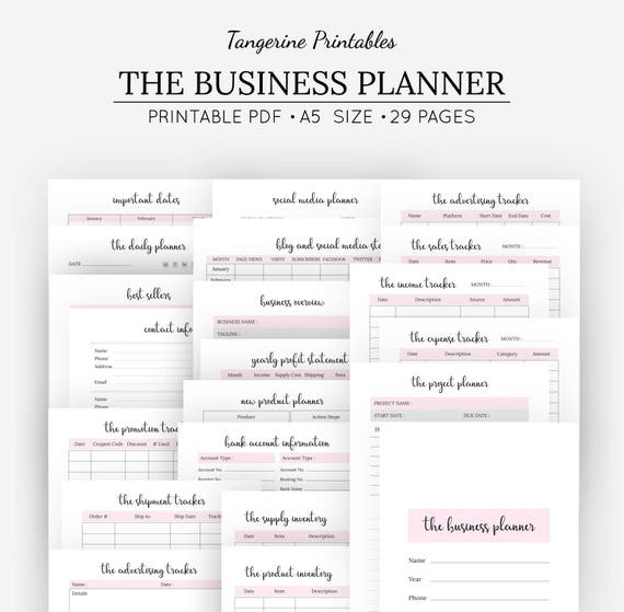 image regarding Etsy Printables identified as Low Business office Planner Template Package A5 Printable Household Business enterprise Planner Purchase Kind Etsy Business office Designing Package Social Media Software