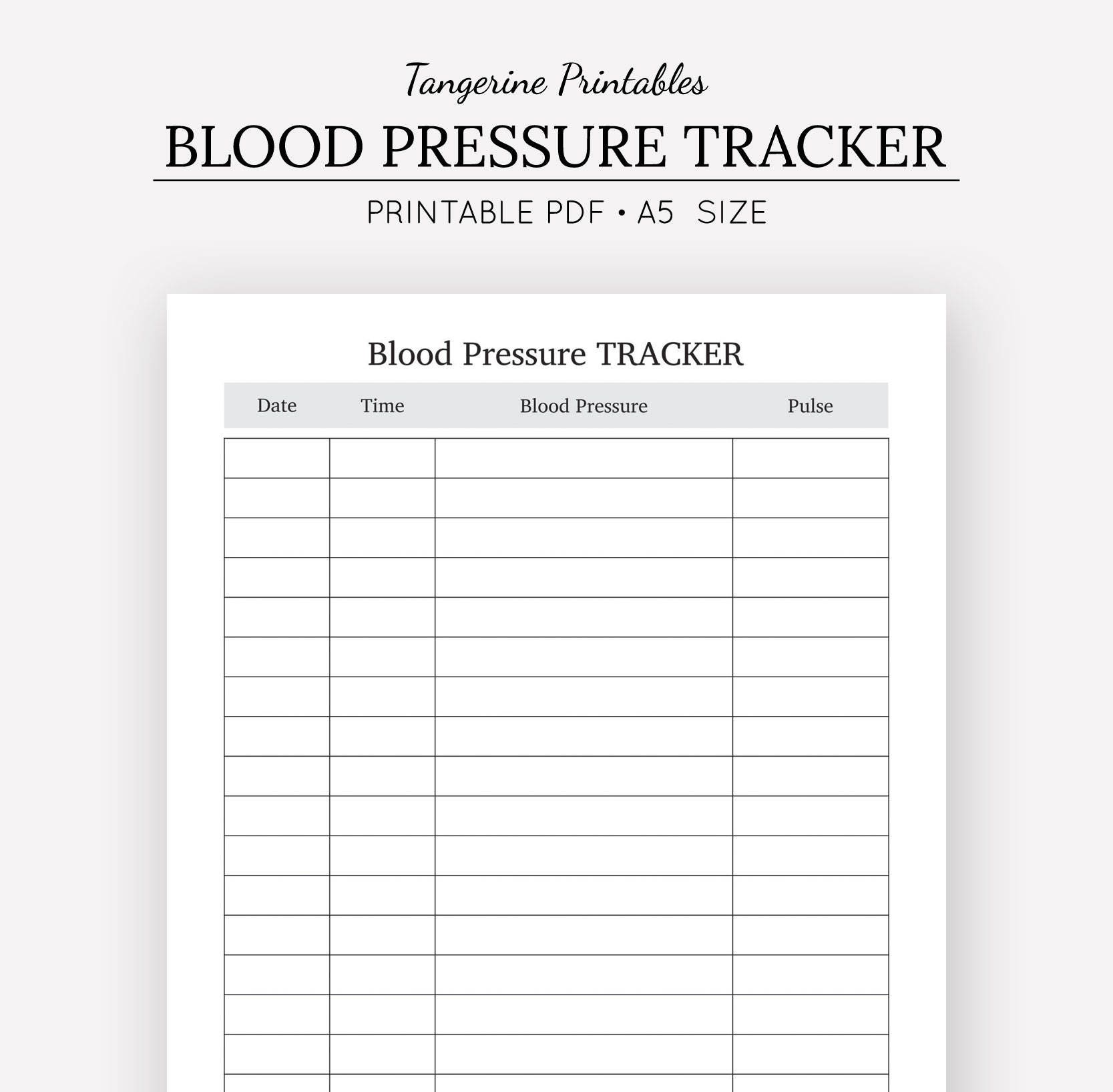 blood pressure tracker health journal a5 insert a5 etsy