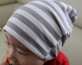 Slouchy beanie - baby beanie - toddler beanie - striped beanie