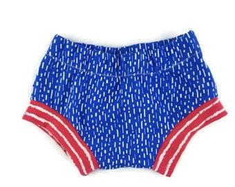 baby shorts - 4th of july shorts -organic fourth of july shorts -organic baby shorts- patriotic shorts -baby shorts -shorties - harem shorts