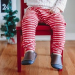 Christmas leggings baby, toddler girl Christmas outfit, striped harem pants baby, candy cane pants, organic baby clothes, baby girl first