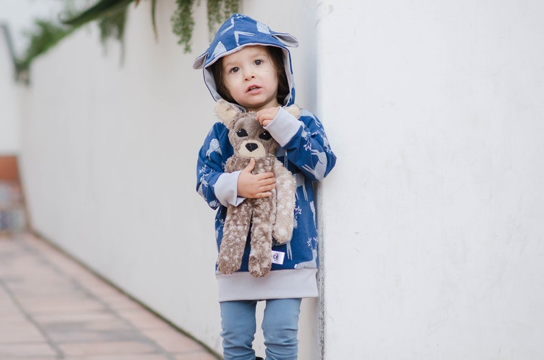 Organic cotton Deer hoodie  FAWN hoodie  baby pullover with image 0