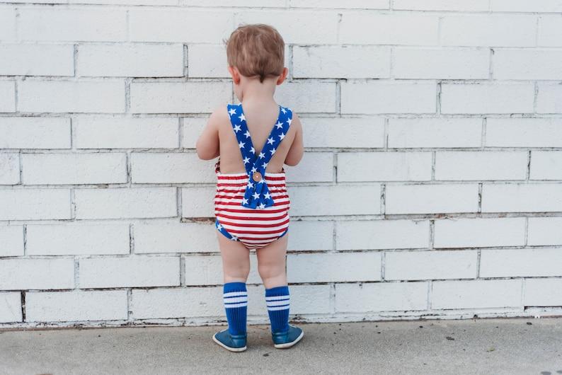 ffe08a2b35a1 4th of july baby romper baby boy romper fourth of july