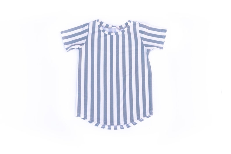 Stripe Baby shirt  Curved hem tee  Baby tee shirt  tshirt  image 0