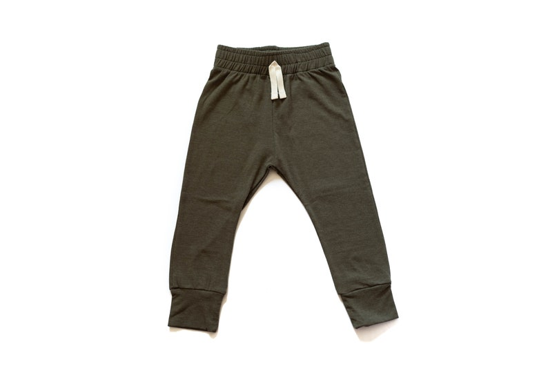 Baby Olive Green Baby Joggers  Baby pants  toddler joggers  image 0