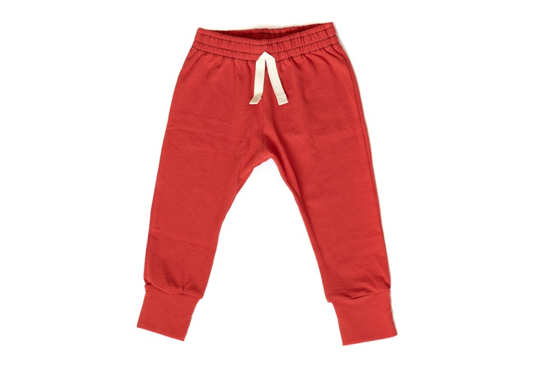 Rust  Baby Joggers  Baby pants  toddler joggers  lounge image 0