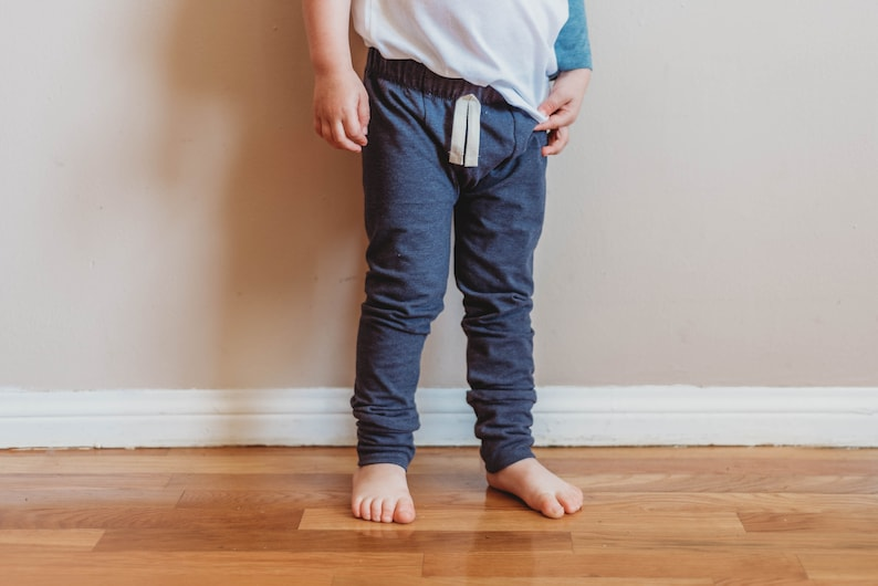 Denim Blue Baby Leggings  SLIMS  Skinny pants for baby  image 0