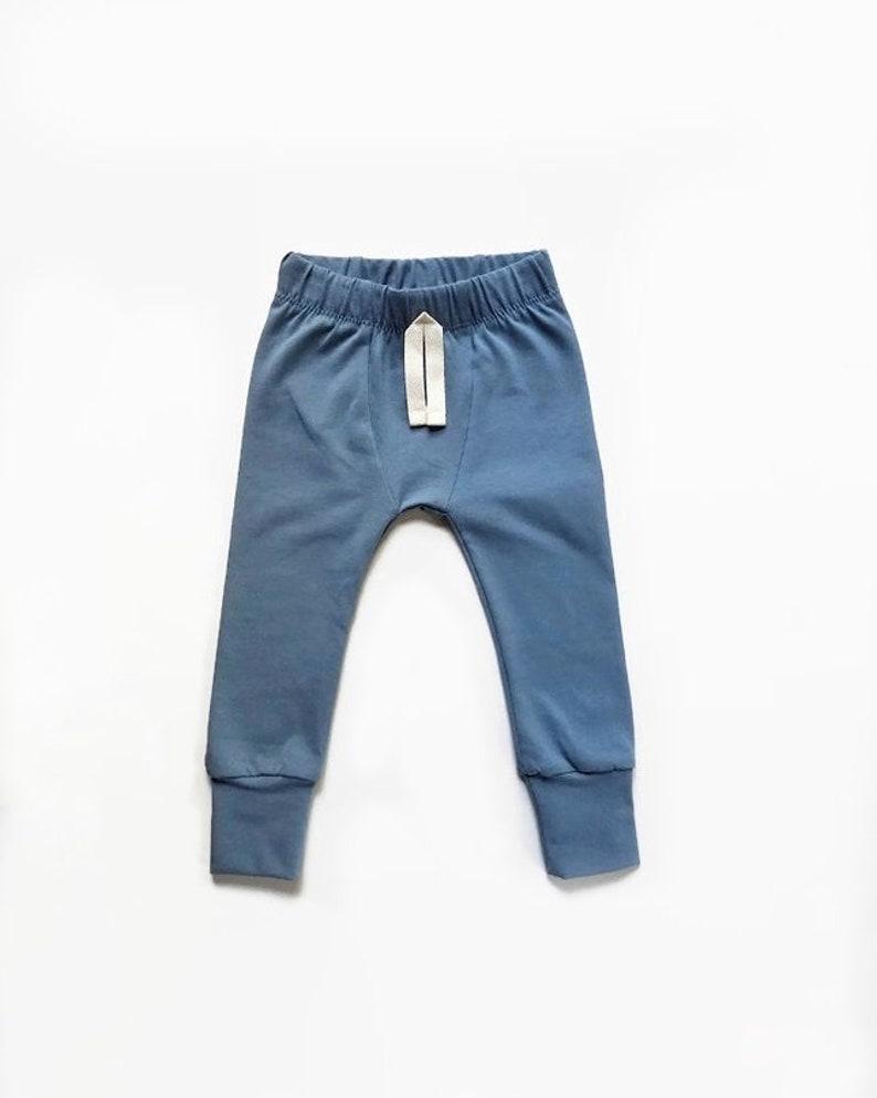 Slate blue Baby Leggings  SLIMS  Skinny pants for baby  image 0
