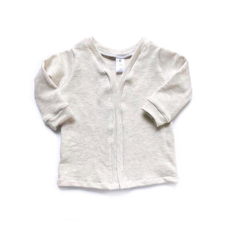 Baby cardigan  french terry cardi  baby jacket  baby outfit image 0