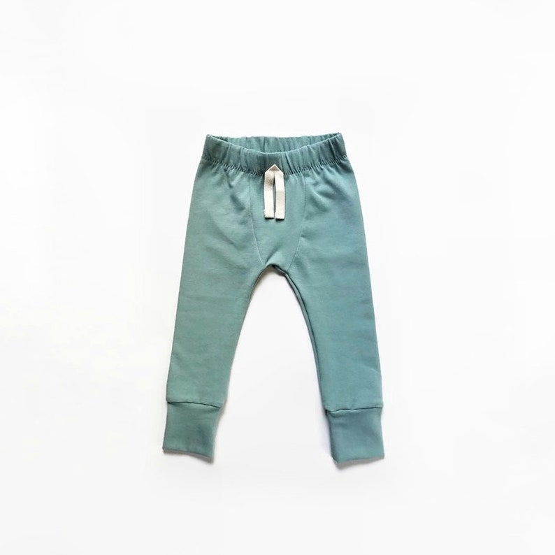 Sage  Baby Leggings  SLIMS  Skinny pants for baby  unisex image 0