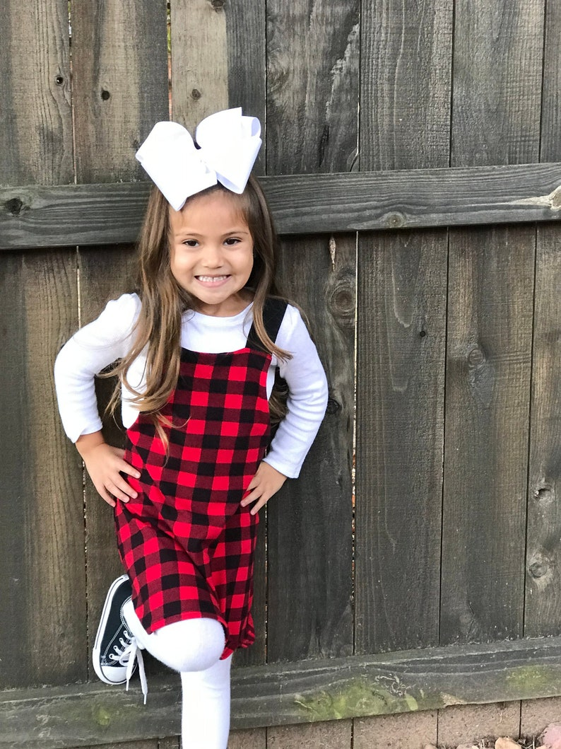 Toddler girl christmas outfit  Buffalo Plaid outfit  baby image 0