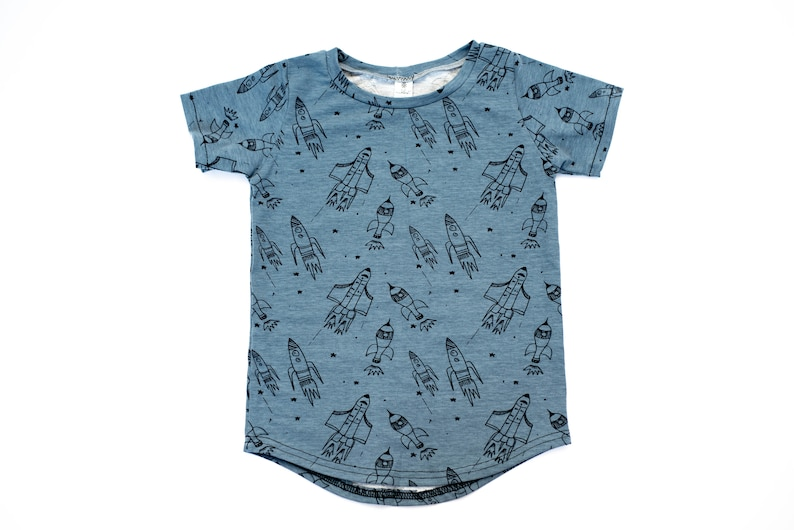 Science baby shirt  Space outer space planets rocket ship image 0
