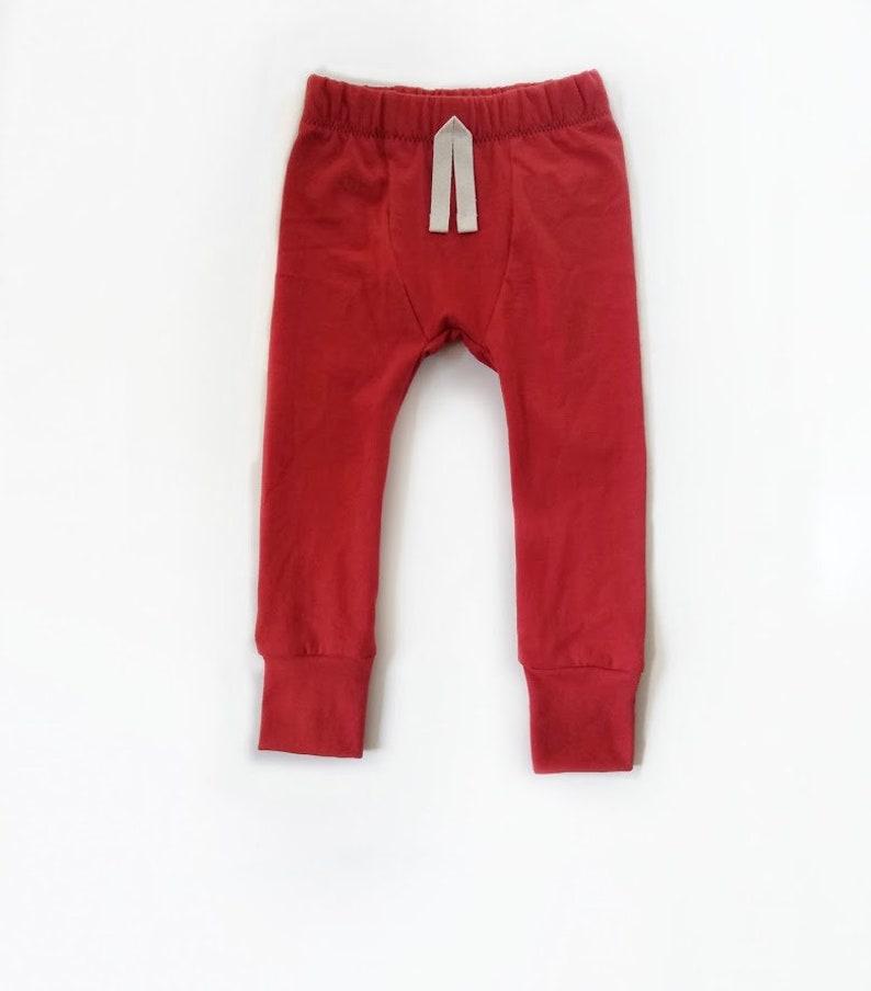 Rust  Baby Leggings  SLIMS  Skinny pants for baby  unisex image 0