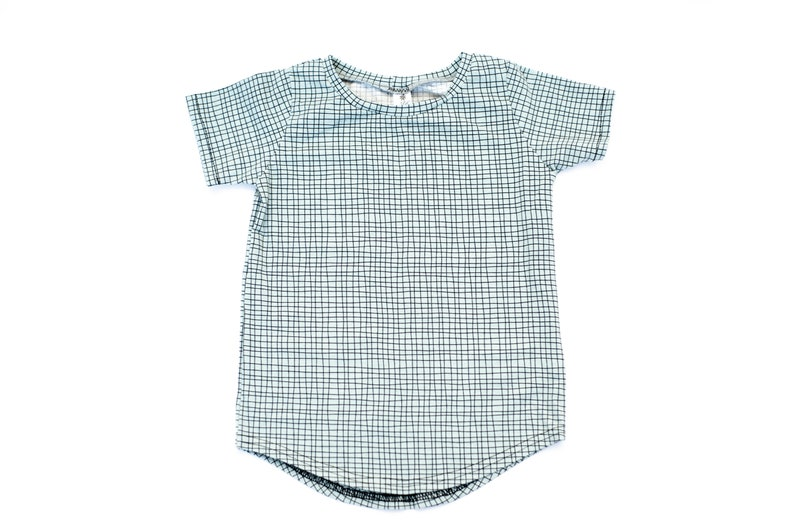 mint baby shirt kids shirt   Organic cotton baby clothes  image 0
