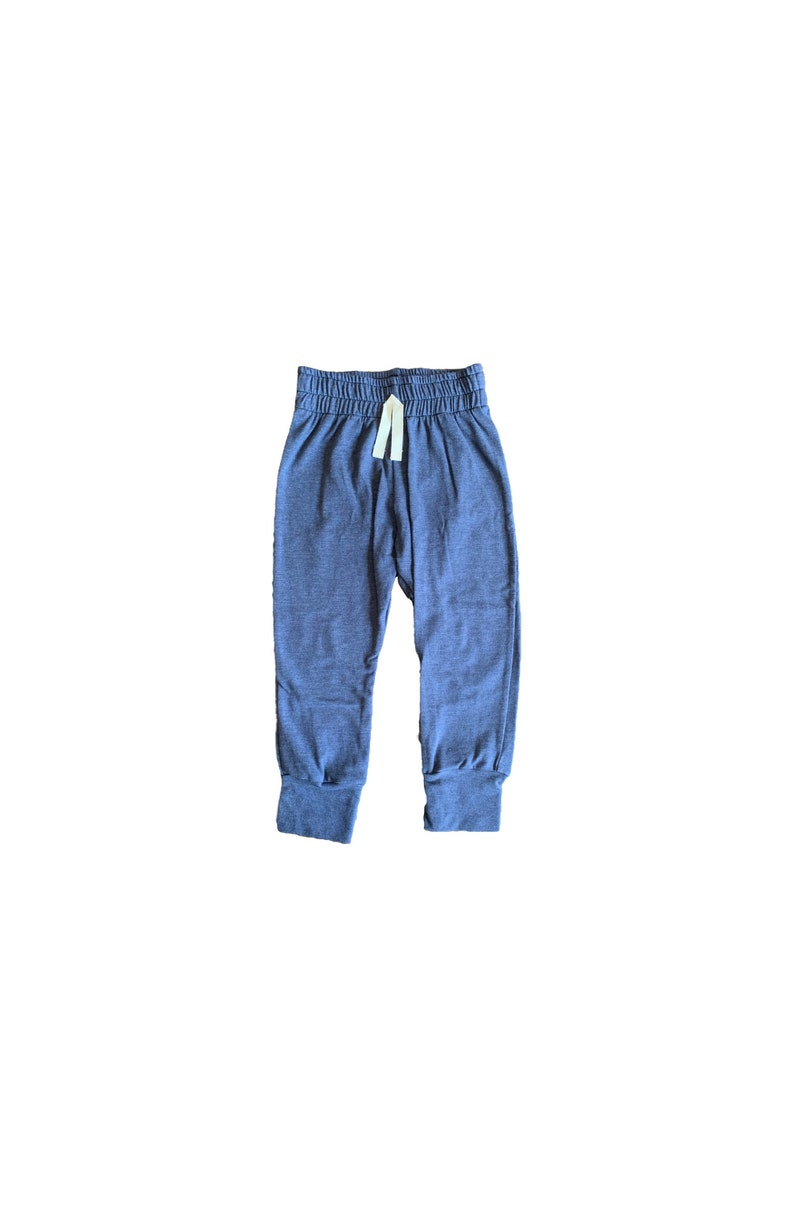 Denim Blue Baby Joggers  Baby pants  toddler joggers  image 0