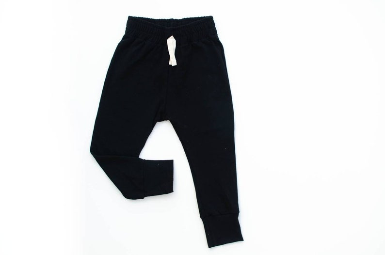 Black Baby Joggers  Baby pants  toddler joggers  lounge image 0
