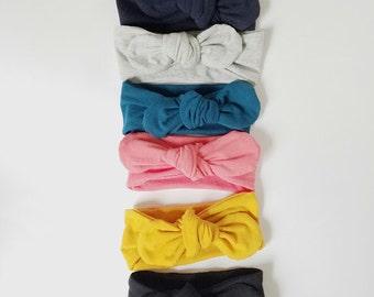 Headband set - headwrap set  - top knot headband set- baby headband - toddler headband - baby headwrap