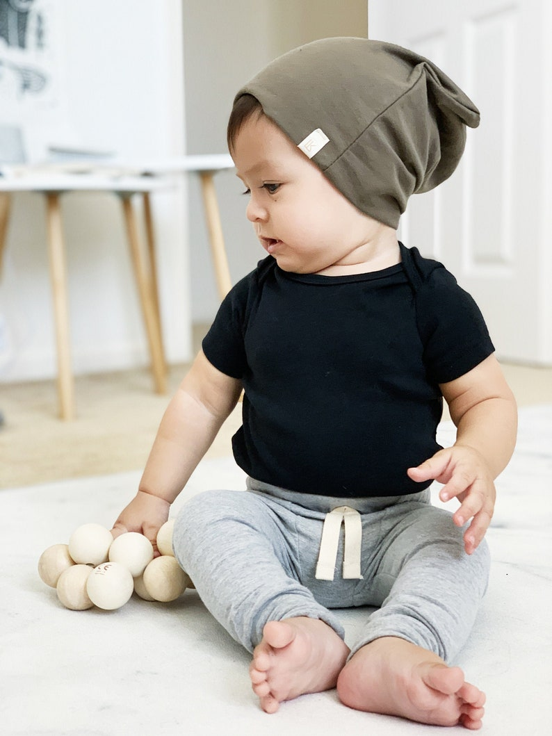 Heather Grey Baby Leggings  SLIMS  Skinny pants for baby  image 0