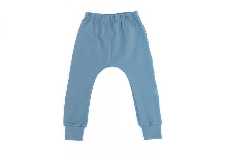 Slate blue baby  harem pants  baby harems  toddler pants  image 0