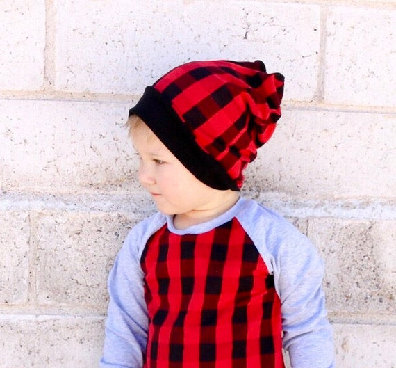 plaid slouchy beanie for kids baby buffalo plaid newborn hat  28e63933dbd