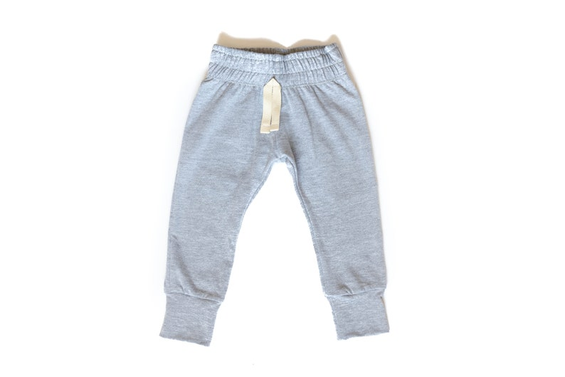 Heather Gray Baby Joggers pants  toddler joggers  lounge image 0