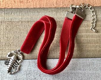 12b02854bffb Scorpion Velvet Ribbon Choker