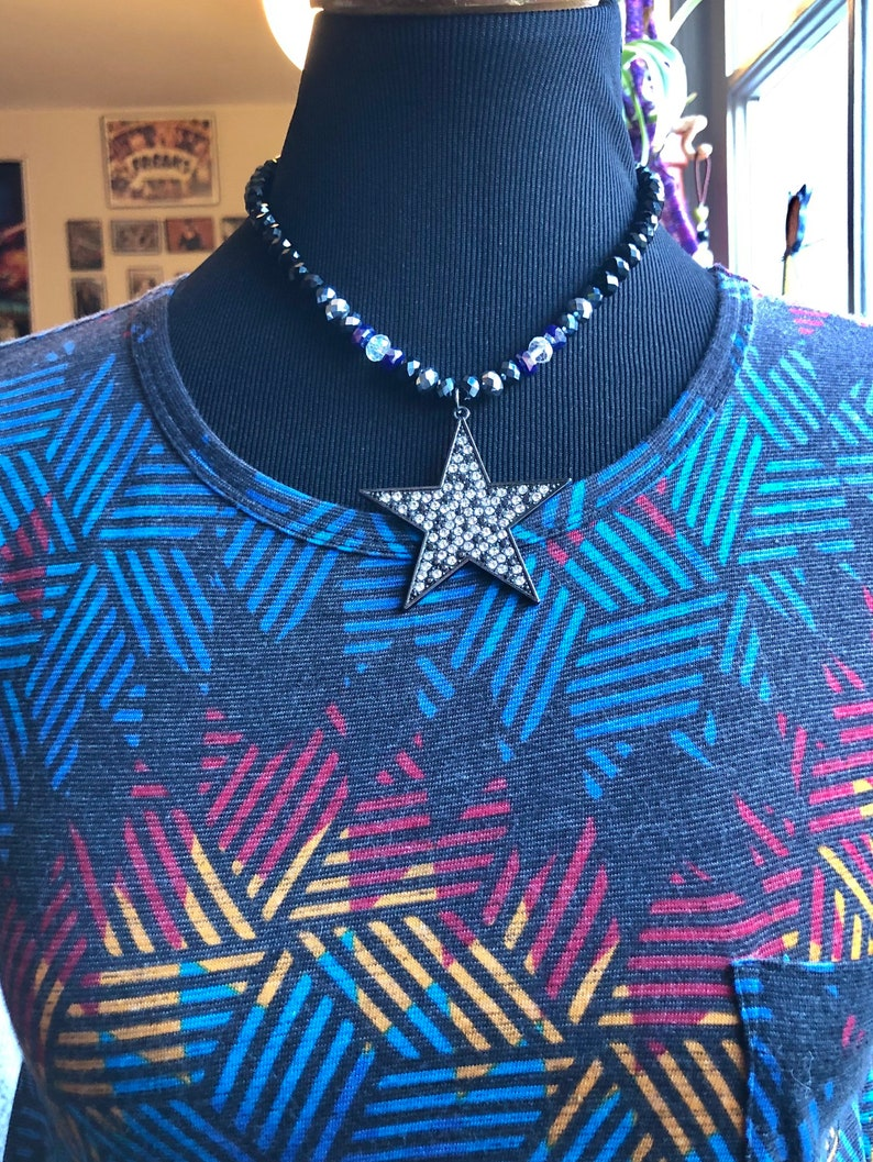 Star Glass Beaded Collar Necklace