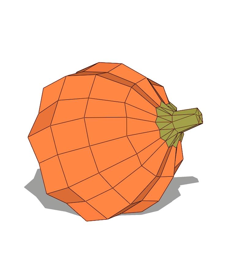 Pumpkin Papercraft Halloween Decor Paper Sculpture Diy Trophy Etsy