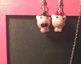 bride pig ornament