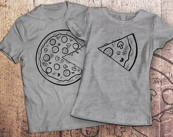 1d7eedc9f Pizza t shirt / piece of pizza / couple shirts / matching couple shirts /  couples shirts / his and hers shirts / couple / pärchen t-shirts