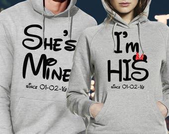 his and hers hoodies / couple hoodies /matching hoodies / pärchen hoodies /disney couple sweatshirt /disney couple hoodies /pärchen pullover