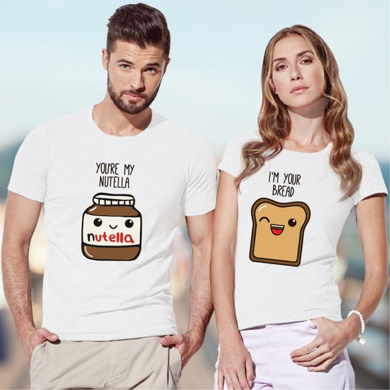 Nutella shirt / pärchen t-shirts / couples t shirt / couples gift set / couple shirt / his and hers shirts / just married shirts LUkT0bQ