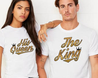 King and queen /husband and wife shirts / pärchen t-shirts / couple shirts / king and queen shirt /anniversary t shirt / his and hers shirts