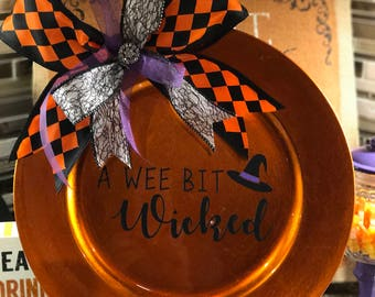 Halloween BOO Charger Plate
