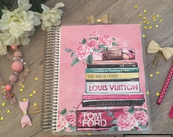 Planner cover for Happy Planner, Erin Condren Planner, Recollections Planner, A5 dashboard, Books, pink, floral, makeup, floral, fashion