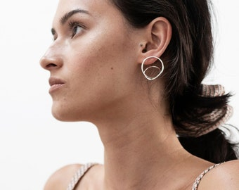 Statement twist hoops