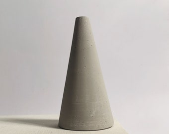 Grey jesmonite ring cone