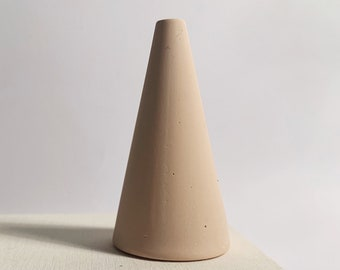 Blush pink jesmonite ring cone